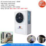 Работает на-20c на выходе в холодную погоду 90град. C горячей воды отопления Cricle R134A+R410A отходов тепла промышленных тепловые насосы