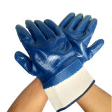Le nitrile 3/4 de la sécurité des enduits de gants de travail utilisés dans le champ d'huile
