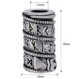 De antieke Zilveren Parels van de Slang van de Runen van Vikingen van de Parels van het Haar van de Baard voor de Juwelen van Armbanden DIY