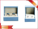 El papel azul Joyería de moda Caja Joyero PU