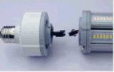 UL ETL el controlador DLC desmontable, IP65 80W Lámpara de maíz de 7 años de garantía IP65 E39/40