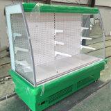 Congelador de la visualización del equipo del supermercado para las frutas y verdura