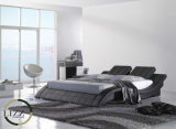 Кровать кожи кривого Мадрид большая для спальни