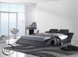 Grande base moderna del cuoio della curva per la camera da letto