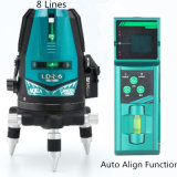 8 Zeile Automobil richten grüne Stufe Laser-520nm mit Laser-Empfänger aus