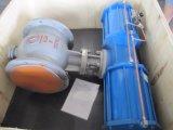 Meia válvula de esfera excêntrica pneumática para o sistema de Dudsting do saco de pano na planta de aço