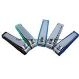 Best-Selling Acero al carbono personalizada con tapa de plástico de colores Nail Clipper (608BS)