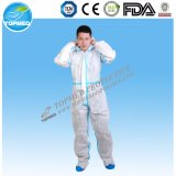 Microporous устранимый померанцовый Coverall Nonwoven Coverall