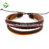 Hand-Woven PU-Leder 2 in 1 Armband-/Halsketten-eindeutigen Mann-Frauen am besten