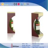 Houder van de Fles van de Wijn van de Vertoning van het Leer van Pu de Decoratieve Verpakkende (6015)