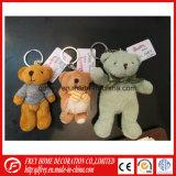 Cadeau promotionnel de jouet de trousseau de clés d'ours de nounours