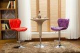 가짜 크롬 가스통 회전대 바 의자 허영 발판을%s 가진 가죽 부엌 의자