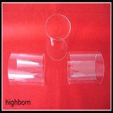 Tubo de cristal modificado para requisitos particulares de cuarzo transparente con la boca de claxon por el gráfico