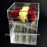 Fabricante de lujo de acrílico del profesional del rectángulo de la flor