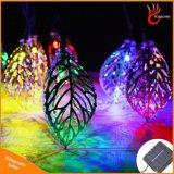 20 feuilles de métal chaîne solaire LED témoins pour l'arborescence de jardin