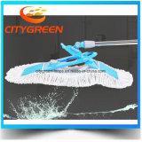 Lavette plate de jet bleu de Microfiber de prix usine