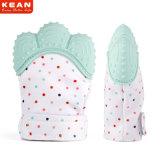 Китай производитель безопасности Non-Toxic прочный силиконовый чехол жевательной резинки малыша прорезыватель перчатки