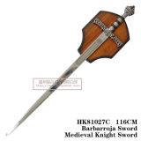 Espadas medievais da decoração das espadas das espadas espanholas 116cm HK81027c