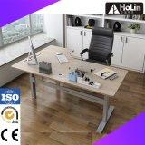 본사 가구를 위한 호두 L 모양 전기 고도 조정가능한 책상