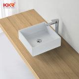 Lavabo di superficie solido acrilico della mano della mobilia della stanza da bagno Cupc