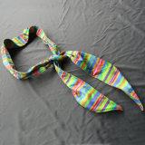 Le basket-ball Anti-Sweat foulard rue Sweat-Guided Sweat-Absorbent Bandage étoiles jaunes Hairband Rainbow bandeau personnalisé