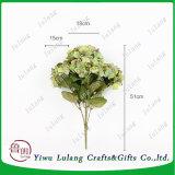 Hydrangea hortensia van de Bloem van de Zijde van de Hoofden van de Kunstbloem van de Kunstbloemen van de fabriek de Directe Grote In het groot
