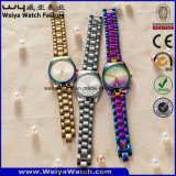 De Digitale Horloges van de Manier van het Horloge van het Kwarts van het Embleem van het Merk van de douane van Gouden Kleur (wy-17003F)