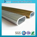 Profilo ovale di alluminio di alluminio tubo/del tubo per l'attaccatura del guardaroba