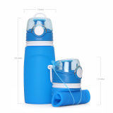 Cinco colores LFGB/FDA Approved estancos Botella de agua plegable de deporte al aire libre