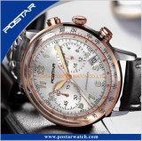 Bande arquée spécialisée de cuir véritable de montre-bracelet d'acier inoxydable