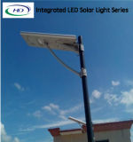 Instalação fácil 60W All in One Integrated Solar LED Street Light com bateria de lítio