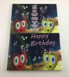 Cartolina d'auguri dello schermo dell'affissione a cristalli liquidi di Digitahi video