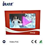Talla A4 promoción video Brochuures del LCD de 10.1 pulgadas con el sostenedor para la Coca-Cola