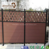 WPCは家のための木の合成の囲う格子塀をを使用して囲う