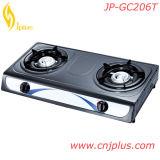 Fornelli di gas doppi di vendita caldi del bruciatore del ghisa (JP-GC206T)