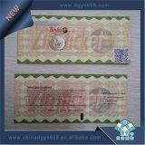 Kundenspezifische thermisches Papier-Faltstapel-Sicherheits-Karte mit Hologramm