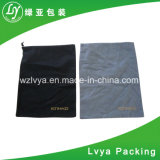 Piccolo sacchetto della tela di canapa del cotone di vendita di Eco della maniglia di Standared del Drawstring lungo amichevole caldo di formato