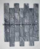 고품질 Polished 대리석은 밝은 구름 회색 대리석 장방형 모양 모자이크를 타일을 붙인다