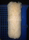 Jaune et Blanc Sac de fibre acrylique éponge brosse rotative.