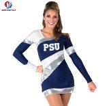 Vente en gros 100% sexy réglée de long de chemises de polyester de coutume Cheerleading d'impression