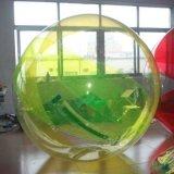 Gele Grote het Opwekken van pvc Opblaasbare het Lopen van het Product van de Sport Bal