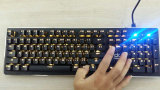 Blaue Schalter RGB-Tastatur mechanisch für Gamer /PC