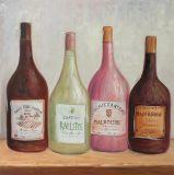 Het aantrekkelijke Kleurrijke Met de hand gemaakte Olieverfschilderij van Veren met schittert