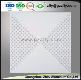 Cilindro de alumínio do melhor preço a impressão de revestimento teto metálico de encaixar no tecto perfurado
