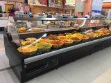 Curva de supermercado carnes Chiller do Visor de Vidro
