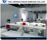 Table basse de salle à manger de Corian de logo d'OEM de fabrication