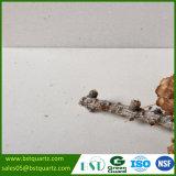 Pedra branca concreta fresca de quartzo da forma nova