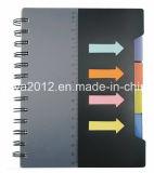 PP는 통치자로 4개의 색깔 스티키 코일 전표를 덮는다