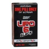 D'OEM Lipo 6 de noir capsule de régime noire du concentré 60 ultra