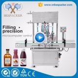 Máquina de rellenar del nuevo del diseño del petróleo jugo líquido de la máquina de rellenar pequeño